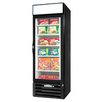 Beverage-Air MMF12-1-B-EL-LED MarketMax 24 inch Black One Section Glass Door Merchandiser Freezer with Electronic Lock - 12 cu. ft.