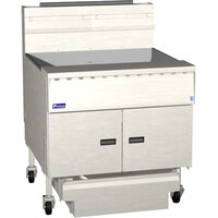 Pitco SGM34-D MegaFry 200-210 lb. Gas Floor Fryer with Digital Controls - 210,000 BTU