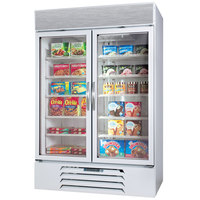 Beverage-Air MMR44-1-W-EL-LED MarketMax 47 inch White Two Section Glass Door Merchandiser Refrigerator with Electronic Lock - 45 cu. ft.