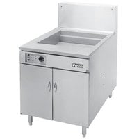 Pitco 24F-SSTC Liquid Propane 150-170 lb. High Capacity Food and Fish Floor Fryer with Solid State Thermostatic Controls - 150,000 BTU