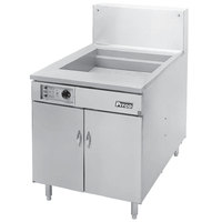 Pitco 34F-M Natural Gas 210-235 lb. High Capacity Food and Fish Floor Fryer with Mechanical Thermostat Controls - 190,000 BTU