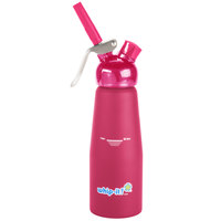 Whip-It SV PRO-10R Pink .5 Liter Aluminum Rubber Coated Cream Whipper
