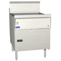 Pitco FBG24-SSTC 57-87 lb. Flat Bottom Gas Floor Fryer with Solid State Thermostatic Controls - 120,000 BTU