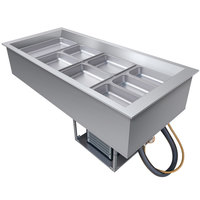 Hatco CWB-4 Four Pan Slanted Refrigerated Drop-In Cold Food Well with Drain - 120V