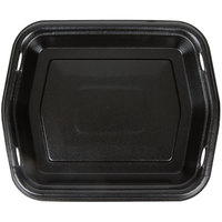 Genpak 50010-3L Smart-Set 8 7/8 inch x 10 5/8 inch Black Rectangular Foam Serving Tray - 250 / Case