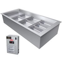 Hatco CWBX-4 Four Pan Slanted Refrigerated Drop-In Cold Food Well without Condenser - 120V