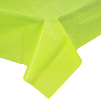 Creative Converting 723123B 54 inch x 108 inch Fresh Lime Disposable Plastic Table Cover
