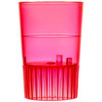 Fineline Quenchers 4110-RD 1 oz. Neon Red Hard Plastic Shooter Glass - 500/Case