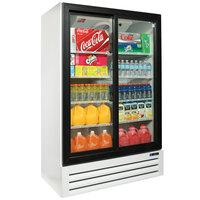 Master Bilt BMG-48-SLP White Two Section Sliding Glass Door Merchandiser Refrigerator - 45.7 Cu. Ft.