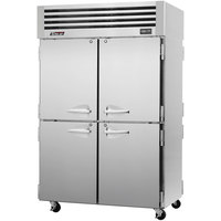 Turbo Air PRO-50-4R-PT 52 inch Premiere Pro Series Two Section Solid Half Door Pass-Through Refrigerator - 49 Cu. Ft.