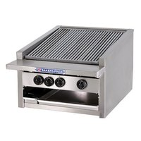 Bakers Pride L-24GS Natural Gas 24 inch Low Profile Glo Stone Charbroiler - 108,000 BTU