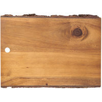 Tablecraft ACAR1208 Acacia Wood Rectangular Serving Board - 12 inch x 8 inch x 3/4 inch