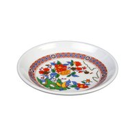 Peacock 4 1/2 inch Round Melamine Plate - 12 / Pack