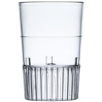 Fineline Quenchers 4110-CL 1 oz. Clear Hard Plastic Shooter Glass - 10 / Pack