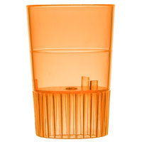 Fineline Quenchers 4110-ORG 1 oz. Neon Orange Hard Plastic Shooter Glass - 10/Pack