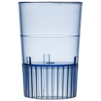Fineline Quenchers 4110-BL 1 oz. Neon Blue Hard Plastic Shooter Glass - 10 / Pack