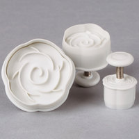 Ateco 1956 3-Piece Rose Plastic Plunger Cutter Set (August Thomsen)