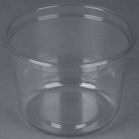Genpak SC032 32 oz. Clear Round Supermarket Container - 50 / Pack