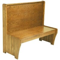 American Tables & Seating AWS-48 Single Wood Booth - 42 inch High