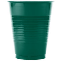 Creative Converting 28312481 16 oz. Hunter Green Plastic Cup - 240 / Case