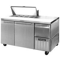Continental Refrigerator CRA60-10 60 inch Extra Deep Sandwich / Salad Prep Refrigerator