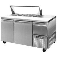 Continental Refrigerator CRA60-12 60 inch Extra Deep Sandwich / Salad Prep Refrigerator