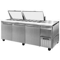 Continental Refrigerator CRA93-27M 93 inch Mighty Top Sandwich / Salad Prep Refrigerator