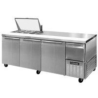 Continental Refrigerator CRA93-12M 93 inch Mighty Top Sandwich / Salad Prep Refrigerator