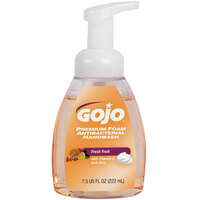 GOJO® 5710-06 Premium 7.5 oz. Fresh Fruit Foaming Antibacterial Hand Soap with Pump - 6/Case