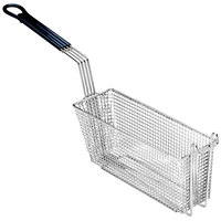 Pitco A4514901 13 1/4 inch x 5 5/8 inch x 5 3/8 inch Triple Size Fryer Basket with Front Hook