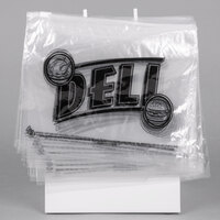 Choice 10 inch x 8 inch Printed Deli Saddle Bag with Slide Seal and Stand Kit