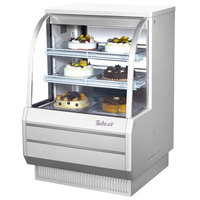 Turbo Air TCGB-36-2 White 36 1/2 inch Curved Glass Refrigerated Bakery Display Case - 10.9 Cu. Ft.