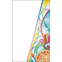8 1/2 inch x 11 inch Menu Paper Cover - Pasta Themed Table Setting Design - 100/Pack