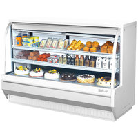 Turbo Air TCDD-72-2-H 72 inch White Curved Glass Refrigerated Deli Case - 21.4 cu. ft.