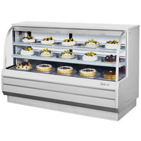 Turbo Air TCGB-72-2 White 72 1/2 inch Curved Glass Refrigerated Bakery Display Case - 22.7 Cu. Ft.