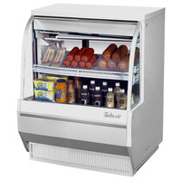 Turbo Air TCDD-36-2-L 36 inch White Low Profile Curved Glass Refrigerated Deli Case - 6.8 cu. ft.