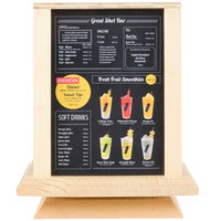 Menu Solutions WTS-4S7-NAT 5 inch x 7 inch Natural Four Sided Rotating Wood Table Tent