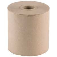 Lavex Janitorial Natural Brown Kraft Roll Towel 600 Feet / Roll - 12 / Case