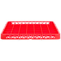 Noble Products 49-Compartment Red Full-Size Glass Rack Extender - 19 3/8 inch x 19 3/8 inch x 1 3/4 inch
