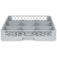 Noble Products 9-Compartment Gray Full-Size Glass Rack / Decanter Rack - 19 3/8 inch x 19 3/8 inch x 4 inch