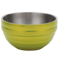 Vollrath 4659130 Double Wall Round Beehive 3.4 Qt. Serving Bowl - Lemon Lime