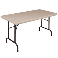 Correll R3060-24 30 inch x 60 inch Mocha Granite Blow-Molded Plastic Heavy-Duty Folding Table