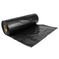 Hercules Contractor Trash Bag 33 Gallon 2.5 Mil 33 inch x 39 inch Low Density Can Liner - 100/Case