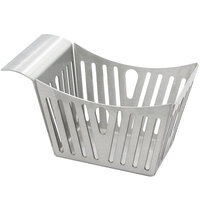 Tablecraft SPB 5 1/2 inch x 3 1/4 inch x 3 inch Stamped Pinstripe Stainless Steel Side Basket