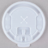 Dart Solo LX2SBR-00100 Translucent Polystyrene Hot / Cold Cup Lid with Lift and Lock Tab and Straw Slot - 2000/Case