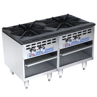 Bakers Pride Restaurant Series BPSP-18-2-D Liquid Propane Two Burner Stock Pot Range