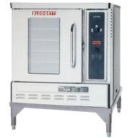 Blodgett DFG-50 Premium Series Natural Gas Single Deck Half Size Convection Oven with Draft Diverter - 27,500 BTU