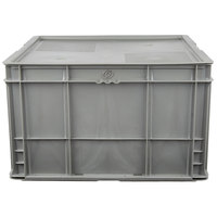 Vollrath 52646 Tote 'N Store 21 2/5 inch x 20 1/2 inch x 13 inch Gray Chafer Box