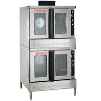 Blodgett DFG-200 Premium Series Double Deck Full Size Bakery Depth Gas Convection Oven with Draft Diverter - 120,000 BTU
