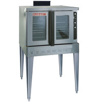Blodgett DFG-200 Premium Series Single Deck Full Size Bakery Depth Gas Convection Oven with Draft Diverter - 60,000 BTU